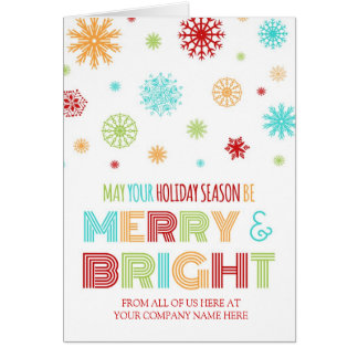 Colorful Employee Merry & Bright Christmas Card