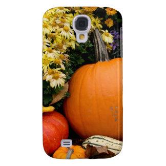 Colorful fall decorative pumpkin display galaxy s4 case