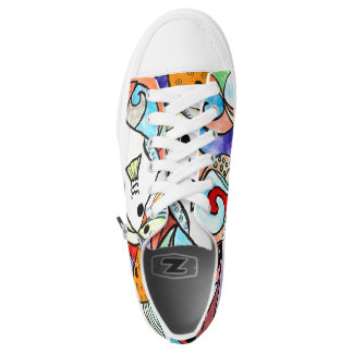 Colorful Fish Printed Shoes