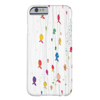 colorful fishies barely there iPhone 6 case