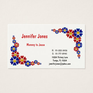 Colorful Floral Calling Card