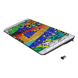 Colorful Floral Plug and Play Decorative pattern Wireless Keyboard