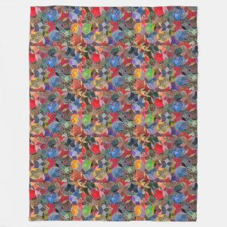 Colorful Flower blanket  Fleece