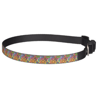 Colorful Flowers Pet Collar