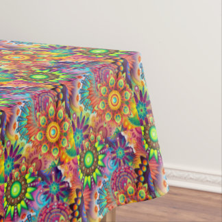 Colorful Flowers Tablecloth