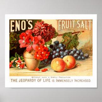 Colorful Fruit Salt Ad Poster
