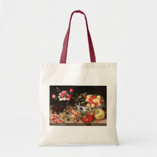 Colorful Fruits & Flowers by Peter Binoit Tote Bag