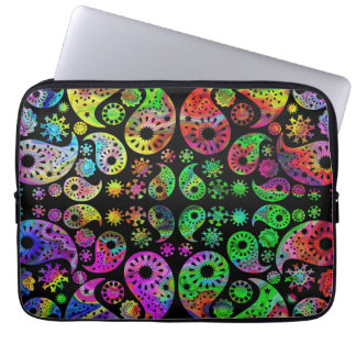 Colorful Funky Paisley Pattern. Computer Sleeve