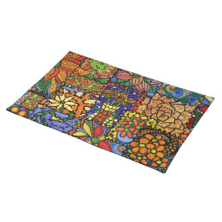Colorful Funky Patchwork Pattern Placemat