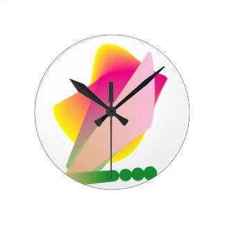 Colorful Funky Phresh Round Clock