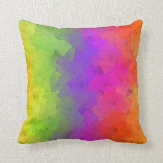 Colorful Gemstone Pattern Lumbar and Throw Pillows