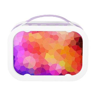 Colorful Geometric Rainbow Prism Lunch Box