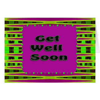 colorful get well soon card