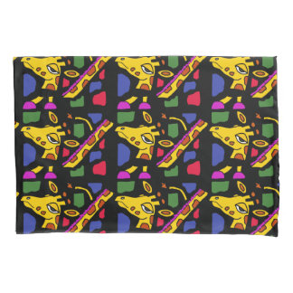 Colorful Giraffe Abstract Art Pillowcase