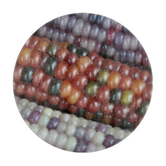 Colorful Glass Gem Corn on the Cob Cutting Board