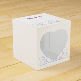 Colorful Glasses Row Party Favour Box