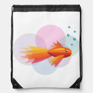 Colorful Goldfish Drawstring Backpack