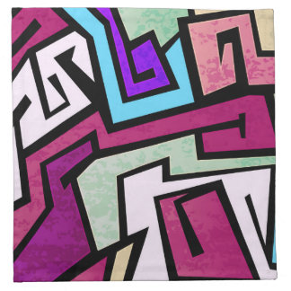 Colorful graffiti design napkin