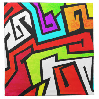Colorful graffiti illustration napkin