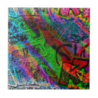 colorful graffiti ceramic tile