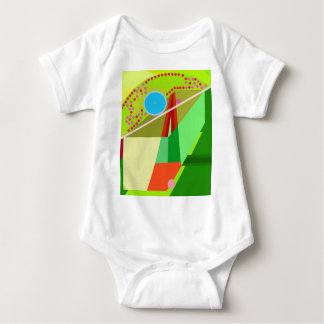 Colorful graphic baby bodysuit