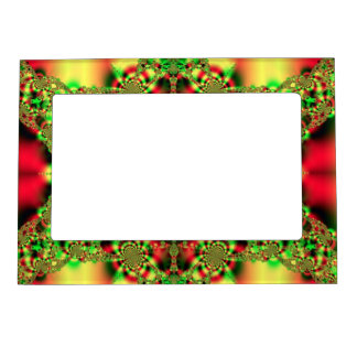 Colorful Green and Red Tartan Magnetic Frame