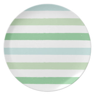 Colorful Grunge Stripes Plate