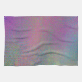 Colorful, Grungy Texture Abstract Remix Tea Towel