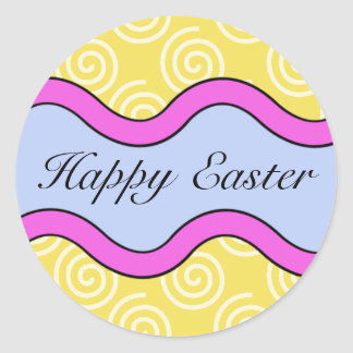 Colorful Happy Easter Stickers