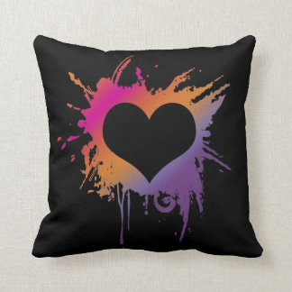 Colorful heart pillow cushions