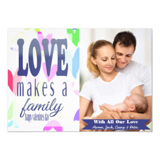 Colorful Hearts Abound Valentine's Day Photo Card