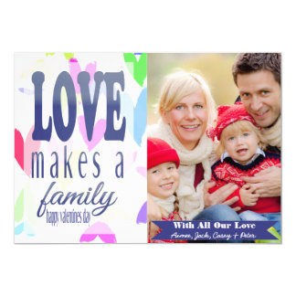 Colorful Hearts Valentine's Day Photo Card
