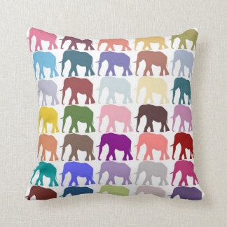 Colorful Herd Throw Pillow