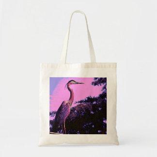 Colorful Heron Tote Budget Tote Bag