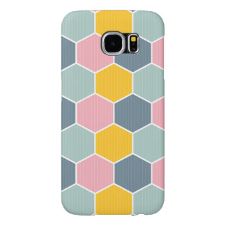 Colorful Honeycomb Geometric Pattern Samsung Galaxy S6 Cases