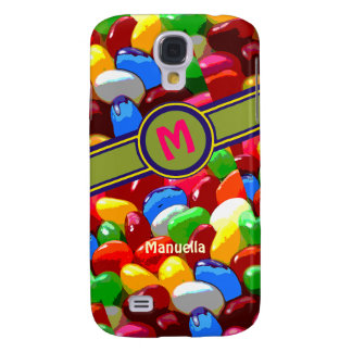 colorful jelly beans sweet name galaxy s4 case