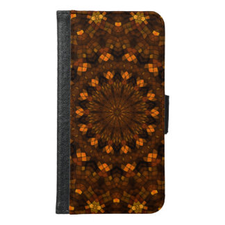 Colorful kaleidoscope mosaic samsung galaxy s6 wallet case