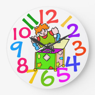 Colorful Kids Room Wall Clock
