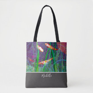 Colorful Koi Pond | Personalized Tote Bag