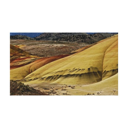 Colorful landscape at Painted Hills fine art Gallery Wrapped Canvas