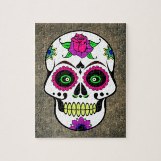 Colorful Large Candy Skull Jigsaw Puzzles