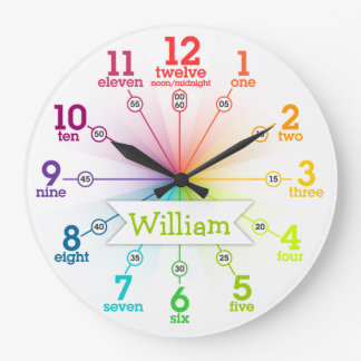 Colorful Learning Wallclock