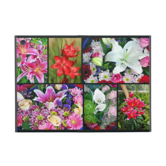 Colorful lily floral collage ipad mini case