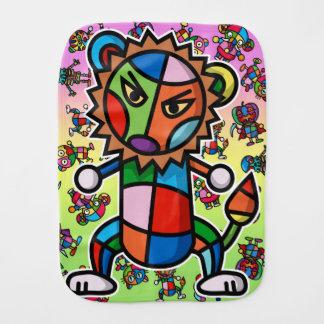 colorful Lion Burp Cloth