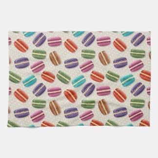Colorful macaron pattern tea towel