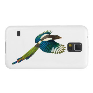 Colorful Magpie Bird, Vintage Illustration Galaxy S5 Cover