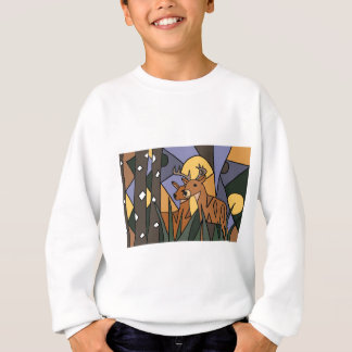 Colorful Male and Female Deer Art Design Sweatshirt