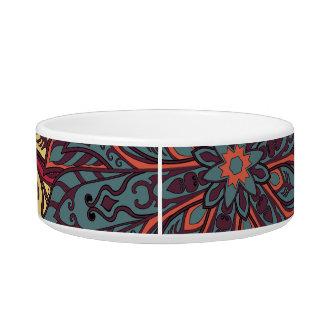 Colorful mandala pattern bowl
