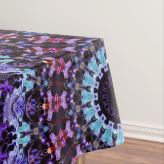 Colorful Mandala Pattern Purple And Blue Pattern Tablecloth