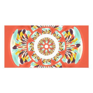 Colorful mandala photo card